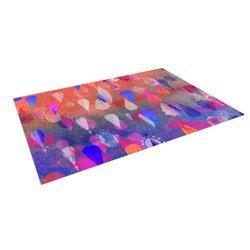 """Nikki Strange """"Bindi Dreaming"""" Blue Pink Indoor/Outdoor Floor Mat - 4x5'"""