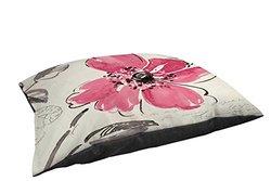 Thumbprintz Indoor/Outdoor Pet Bed, Windy 1-Pink Poppy Floral