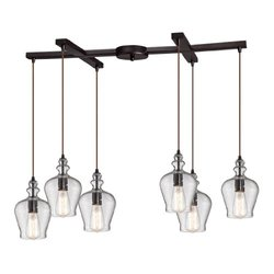 Elk Lighting Menlow Park 6-Light Chandelier - Oil Rubbed Bronze (60066-6)