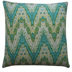 Jiti Ray Linen Square Throw Pillow - 20-Inch - Green