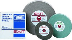 "United Abrasives SAIT 4 x2x1-1/2"" GC080 Bench Grinding Wheel (28171)"