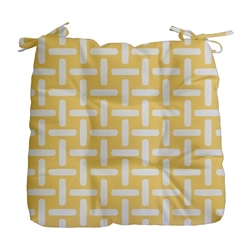 "E By Design Decorative Outdoor Seat Cushion 19"" x 18"" - Lemon"