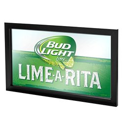 Trademark Gameroom Bud Light Lime-A-Rita Framed Logo Mirror