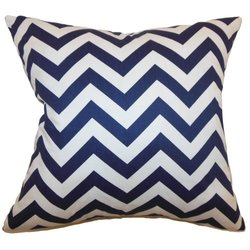 The Pillow Collection Xayabury Zigzag Pillow - Blue