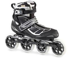 Rollerblade Men's Tempest 100 Performance Skate, Black/Silver, 10