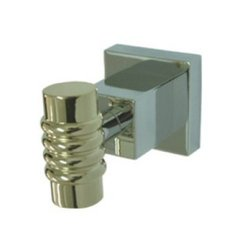Kingston Brass BAH4647CPB Fortress Robe Hook, Chrome/Polished Brass