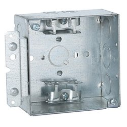 "Raco 248HWP 2-1/8"" Deep Square Electrical Box - 4"""