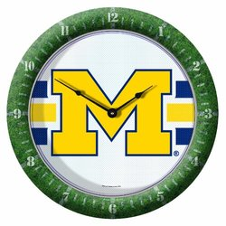 NCAA Michigan Wolverines Game Clock