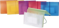 Filexec Expading File Elastic Closure Pack of 6 - Assorted (50142-4396)