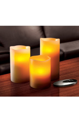 Sarah Peyton 3-Piece Flameless Candle Set with Remote Control