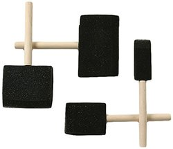 "Jack Richeson 50 Pack - 2"" Wood Handle Sponge Bru"