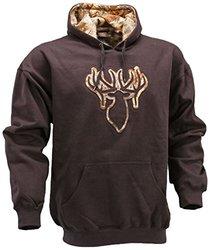 King's Camo Men's Applique Hoodie W/ Desert Shadow Logo - Black - Sz: Med
