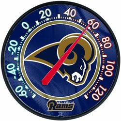 NFL St. Louis Rams Thermometer for Indoor or Outdoor Use