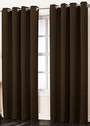 "Sun Zero Leighton Room Darkening Curtain Panel - Chocolate - Size: 50""x84"""