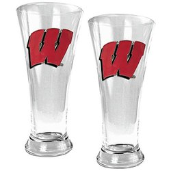NCAA Wisconsin Badgers Two Piece 19-Ounce Pilsner Glass Set