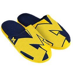 NCAA Michigan Wolverines Split Color Slide Slipper - Blue - Size: Medium