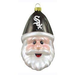 MLB Chicago White Sox Blown Glass Santa Cap Ornament
