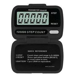 Ultrak 240 Step Counter Pedometer - Set of 12 - Black (240-12)
