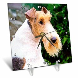 "6""x6"" Fox Terrier Quartz-Mechanism Desk Clock"