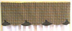 "RLF Home 15""x50"" Twirl Petticoat Curtain Valance - Rocky"
