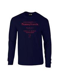SDI NCAA Stacked Vintage Long Sleeve Men's T Shirt - Navy - Size: X-Large