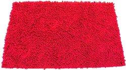 "FitDio Luxury Microfiber Chenille Bath Rug - Red - Size: 40"" x 60"""
