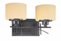 Thomas Lighting M1562-40 Trellis Two-Light 15-Inch W by 8-1/2-Inch H Bath Light, Burnished Umber