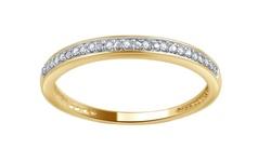 Brilliant Diamond 10K Round Diamond Accent Band - Yellow Gold - Size: 6
