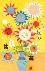Oopsy daisy Santa Fe Style Stretched Canvas Wall Art by Caroline Blum, 18 by 28-Inch