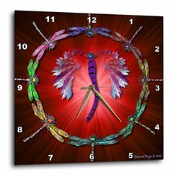 Dragonfly Dance - Wall Clock, 13 by 13-Inch (dpp_50289_2)