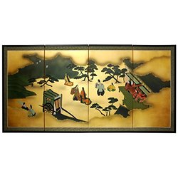 "Oriental Furniture 36"" From Heaven Above on Gold Leaf"