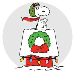 """Marmont Hill Peanuts Snoopy Ace Canvas Wall Art - 18"""" x 18"""""""
