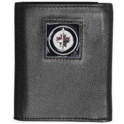 Siskiyou NHL Winnipeg Jets Leather Wallet Packaged in Gift Box - Black