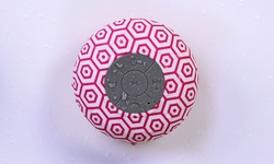 Ontek Bluetooth Shower Speaker with Mic - Rose Hexagons