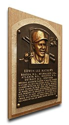 MLB Milwaukee Brewers Eddie Mathews Hall of Fame Plaque - Brown - Medium