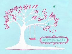 "40""x30"" Believe You Can Fly by Sherri Blum Canvas Wall Art"