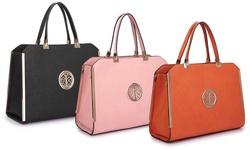 Dasein Women's Satchel Handbag - Baby Pink