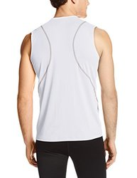 Tommie Copper Men's Fit Sleeveless Crew Neck Shirt - White - Size: M