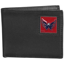 NHL Washington Capitals Leather Bi-Fold Wallet Packaged in Gift Box, Black