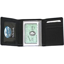 NHL Florida Panthers Deluxe Leather Tri-Fold Wallet - Black