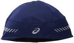 ASICS Women's Thermal 2-N-1 Beanie, One Size, Black/Indigo Blue
