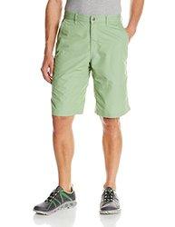 Mountain Khakis Men's Poplin Short Relaxed Fit, Mint, 35W/8-Inch