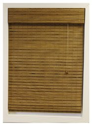 Calyx Interiors Bamboo Roman Shade, 59-Inch Width by 98-Inch Height, Dali Natural