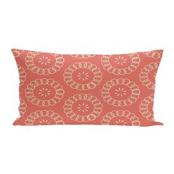 E By Design Happiness is Floral Print Seat Cushion - Seed - Size: One
