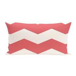 E By Design Geometric Decorative Outdoor Seat Cushion - Coral - Size: One
