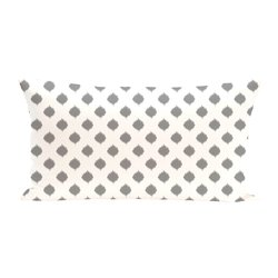E By Design Cop Ikat Geometric Print Cushion - Classic Grey - Size: One