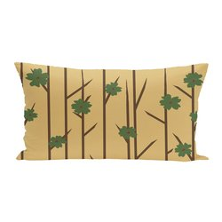 E By Design Floral Polyester Outdoor Seat Cushion - Bamboo - Size: One