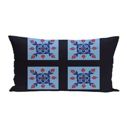 E By Design 4 Square Geometric Print Seat Cushion - Sky - Size: One Size