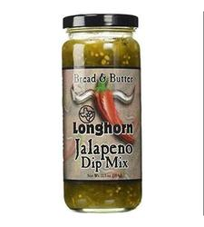 Texas Longhorn Bread and Butter Jalapeno Dip Mix - 12.5 oz