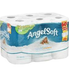 Angel Soft Pack of 4 Double Roll 2 Ply Soft Bath Tissue - White